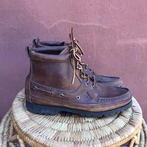 Polo Country Ralph Lauren leather Moccasin boots